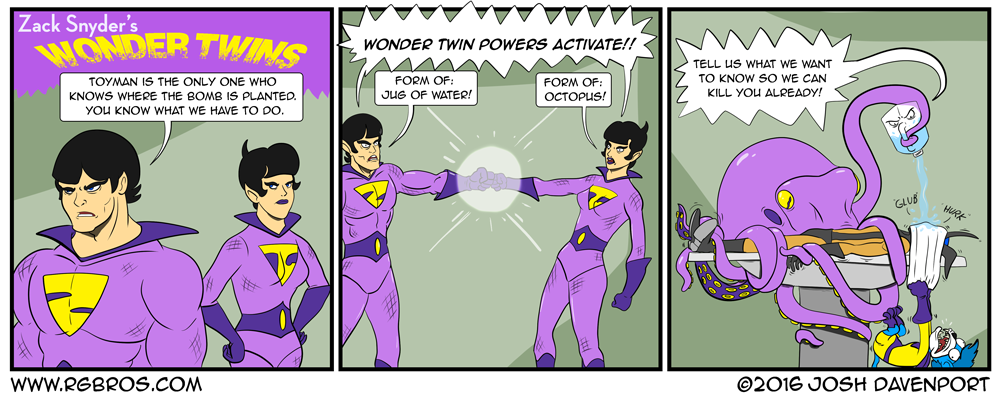 Zack Snyder's Wonder Twins by Josh Davenport