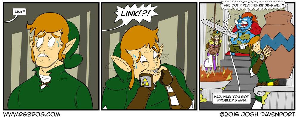 Link makes a tough choice. by Josh Davenport