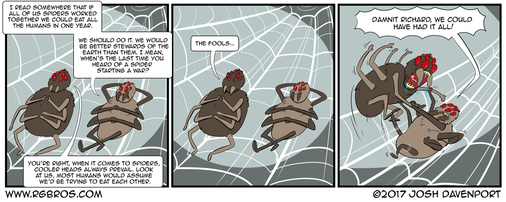 Spiders could eat all the humans on earth...or could they? by Josh Davenport