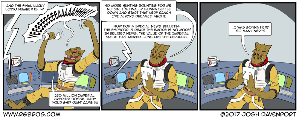 The Fall of the Empire doesn't pay off for Bossk. by Josh Davenport