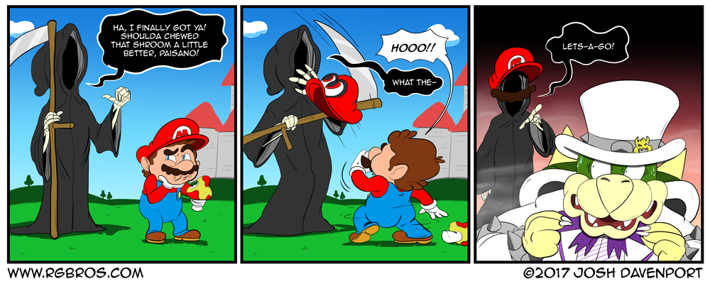 Death attempts to get Mario, once and for all. by Josh Davenport