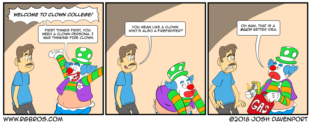 The first day of the worst Clown College. by Josh Davenport