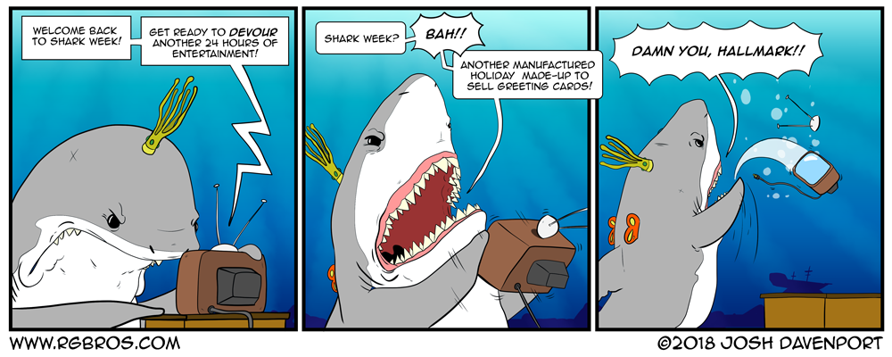 Sharkonus doesn't much care for shark week. by Josh Davenport
