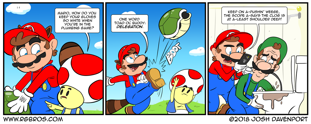 How does Mario keep his gloves so white? by Josh Davenport
