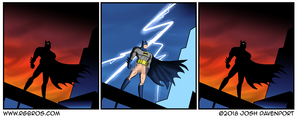 DC comics makes batman go full frontal. by Josh Davenport