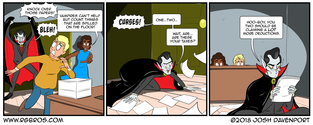 Dracula gets easily distracted. by Josh Davenport