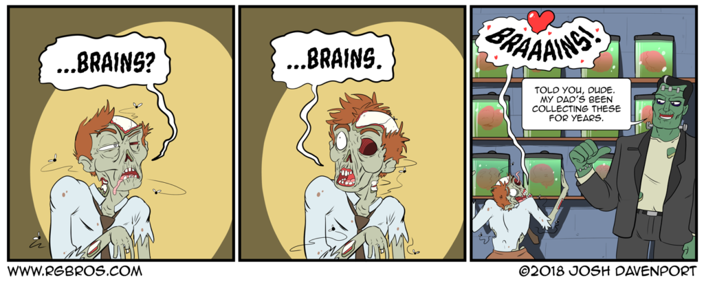 A zombie finds heaven on earth. by Josh Davenport