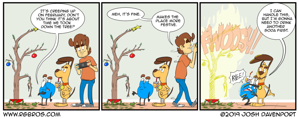 The Christmas tree is still up. by Josh Davenport